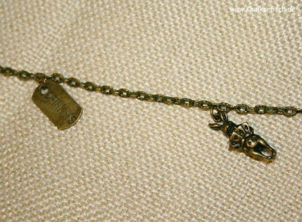 Alice-im-Wunderland-Halskette mit Anhänger *Wohin soll ich gehen*
