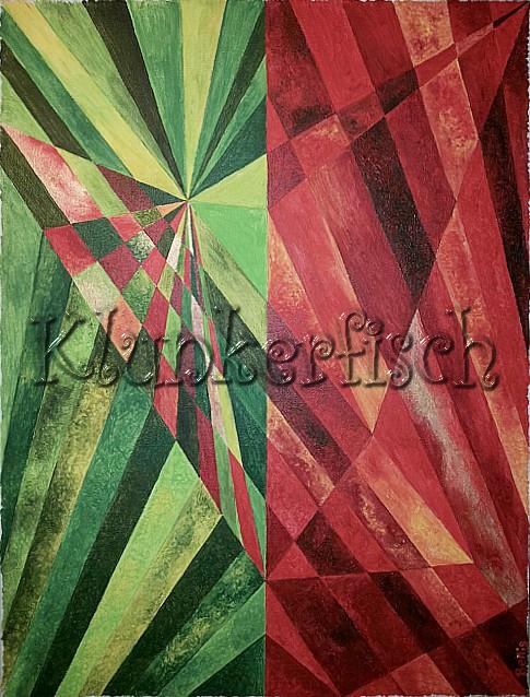 Acrylbild *Rubin und Smaragd*