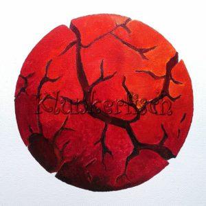 Acrylbild *Rote Sonne*