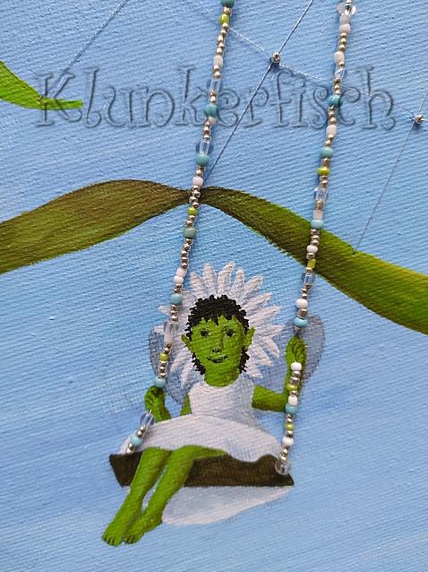Acrylbild *Elfe auf der Schaukel*