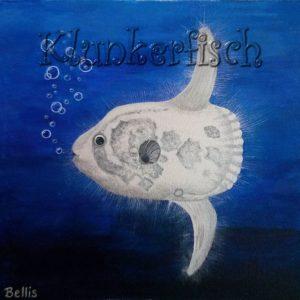 Acrylbild *Der Vollmondfisch*