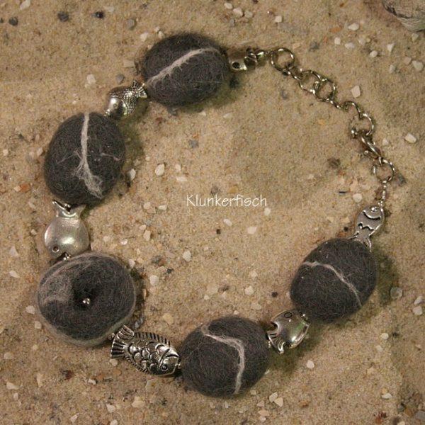 Filz-Kiesel-Armband *Diversität*