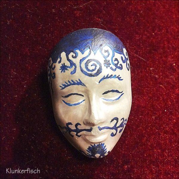 Masken-Brosche *Chinesischer Dali*