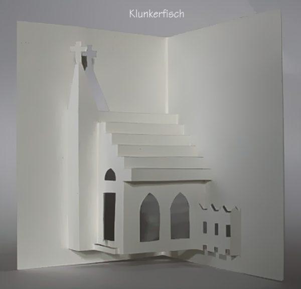 Faltschnittkarte *Offene Kirche*
