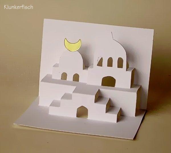 Faltschnittkarte *Kleine Moschee*