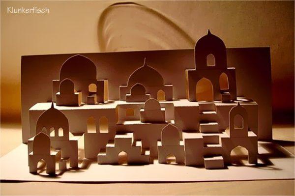 Faltschnittkarte *Orientalische Stadt*