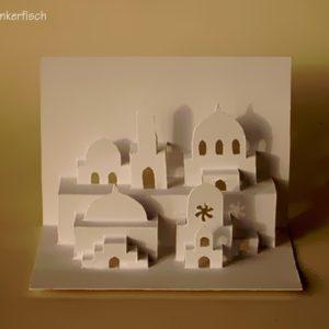Faltschnittkarte *Viele Moscheen*