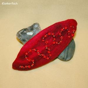 Filz-Haarspange *Rote Viper*