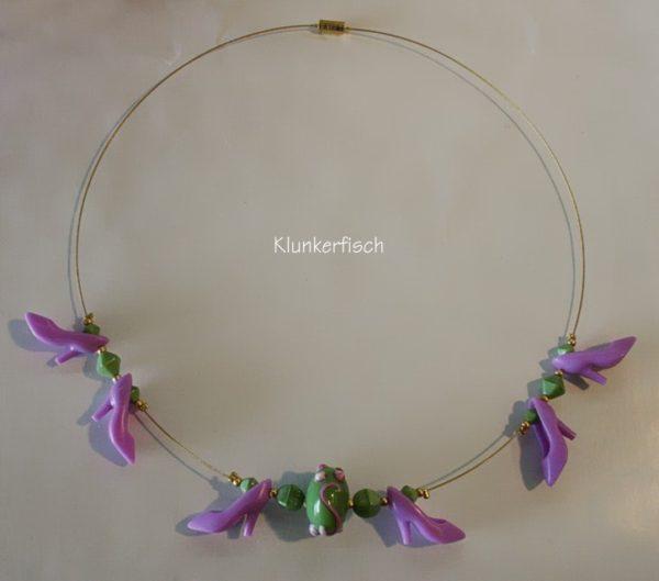 Halskette mit Schuhen *Fleur*