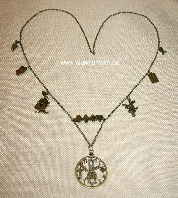 Bronze-Halskette *Das Weiße Kaninchen*
