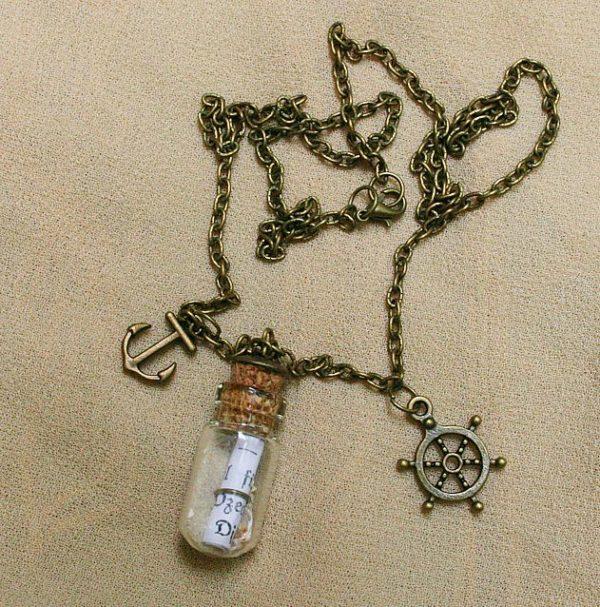 Flaschenpost-Halskette *Ozean*