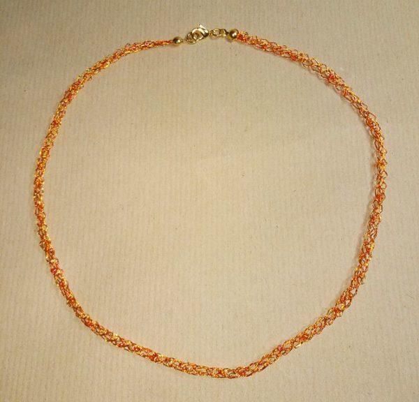 Draht-Kette in Orange und Gold