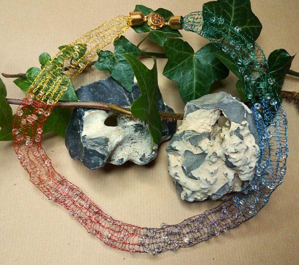 Draht-Halskette *Regenbogen*