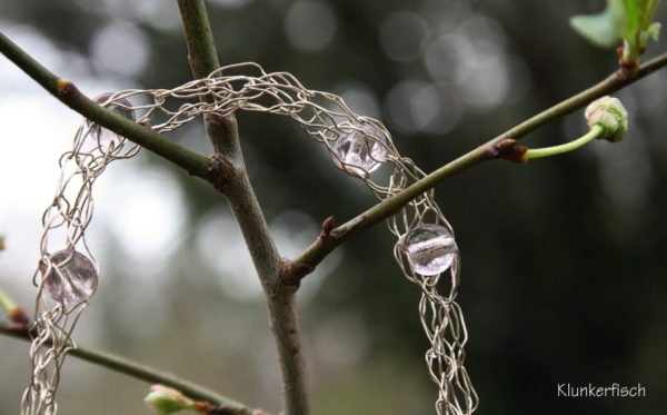 Draht-Kette in Silber und Rosa