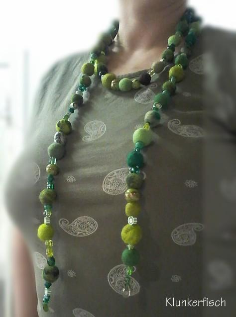 Halskette und Gürtel *Waldspaziergang*