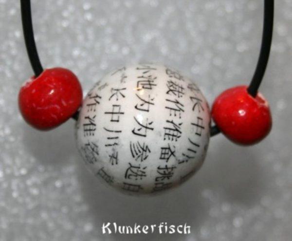 Schlichte Halskette *Asien* mit chinesischen Zeichen