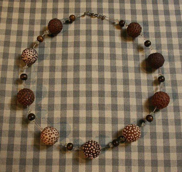 Halskette *Schokokugeln mit Zartbitter*