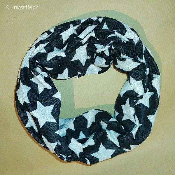 Leichter Loop in Schwarz mit weißen Sternen