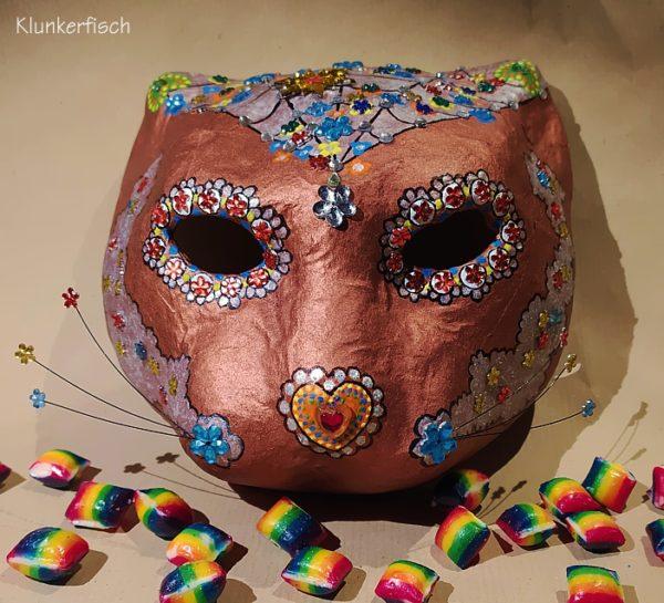 Venezianische Maske *Jaguar de los muertos*