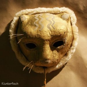 Venezianische Stab-Maske *Winterlöwe*