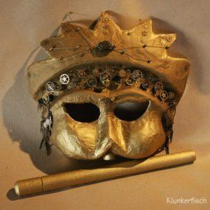 Venezianische Stab-Maske *Zeit*