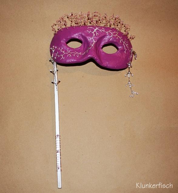 Venezianische Stab-Maske *Dornrosa*