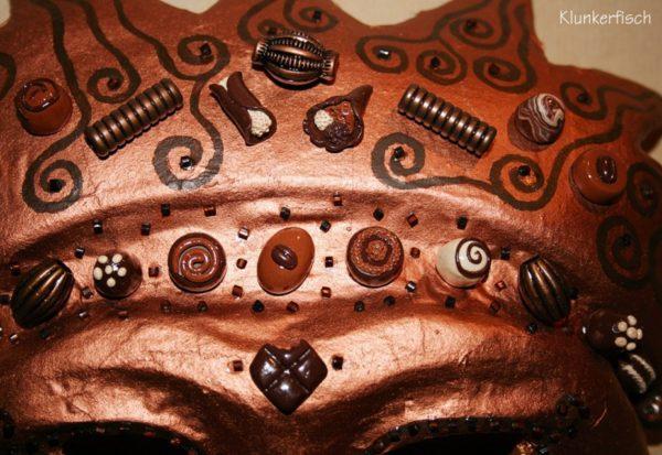 Venezianische Stab-Maske *Xocolatl*