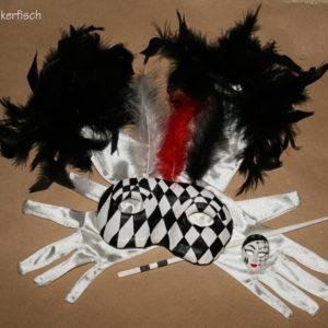 Venezianische Stab-Maske *Domino*