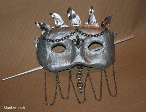 Venezianische Stab-Maske *Jeanne D'Arc*