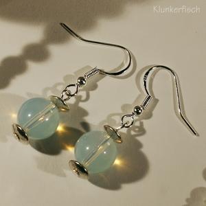 Ohrringe aus Opalit und Silber