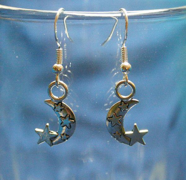 Ohrringe *Mond und Sterne*