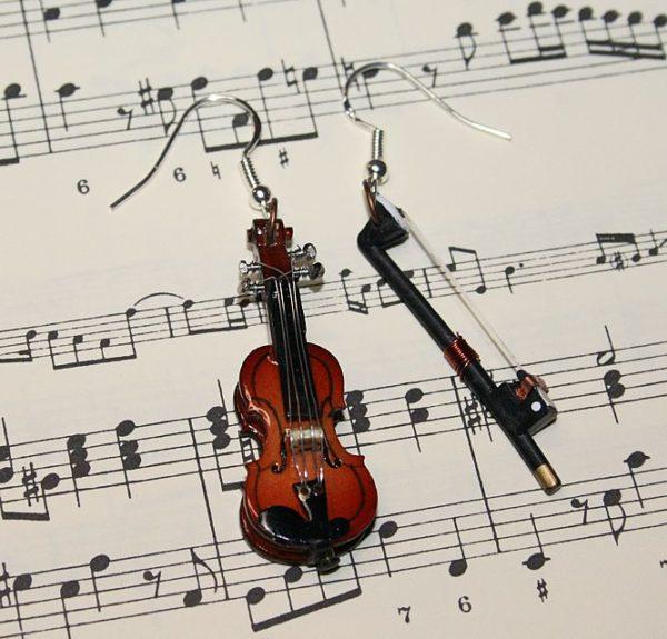 Ohrringe *Violinchen und Bogen*
