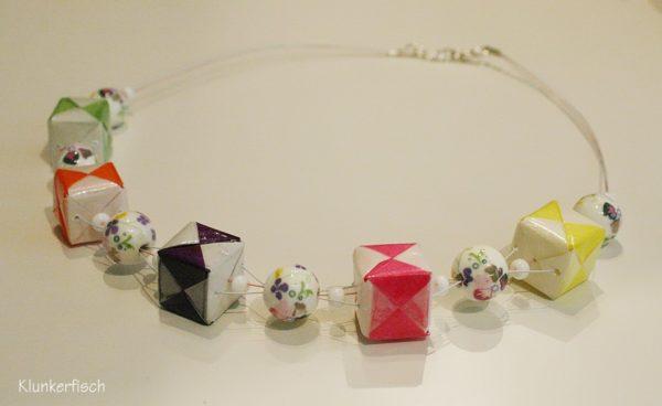 Origami-Collier *Blütenpracht*