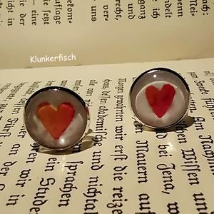 Anstecknadel / Brosche / Pin mit Rosen-Herz