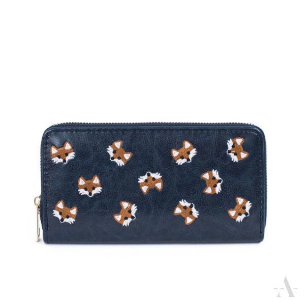 Fuchs-Portemonnaie in Blau