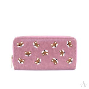 Fuchs-Portemonnaie in Rosa