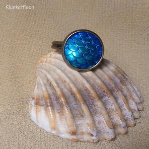 Ring *Fisch-Schuppen* in Blau