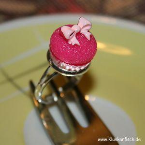 Cupcake-Ring in Pink