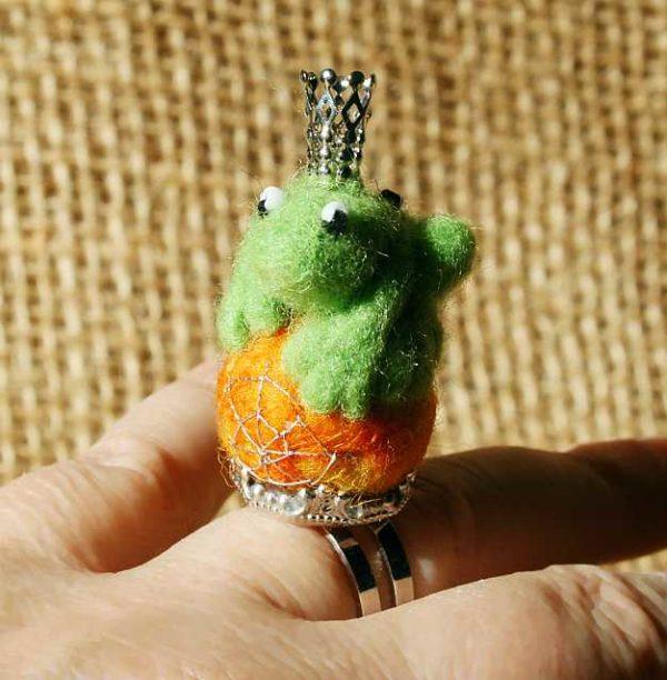 Fingerring *Kürbis-Froschprinz*