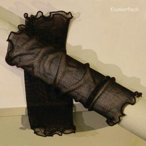 Handstulpen aus Seide in Dunkelbraun