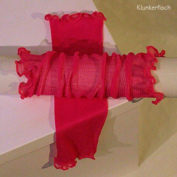 Handstulpen aus Seide in leuchtendem Pink