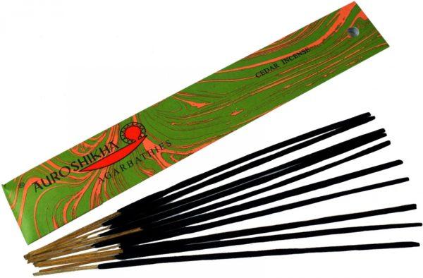 Indische Räucherstäbchen: Auroshikha Cedar Incense