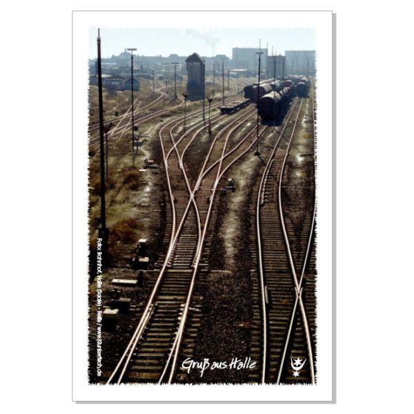 Postkarte von Halle: Hauptbahnhof