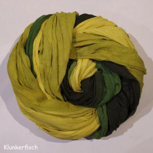 Batik-Tuch aus Baumwolle in Gelb-Grün