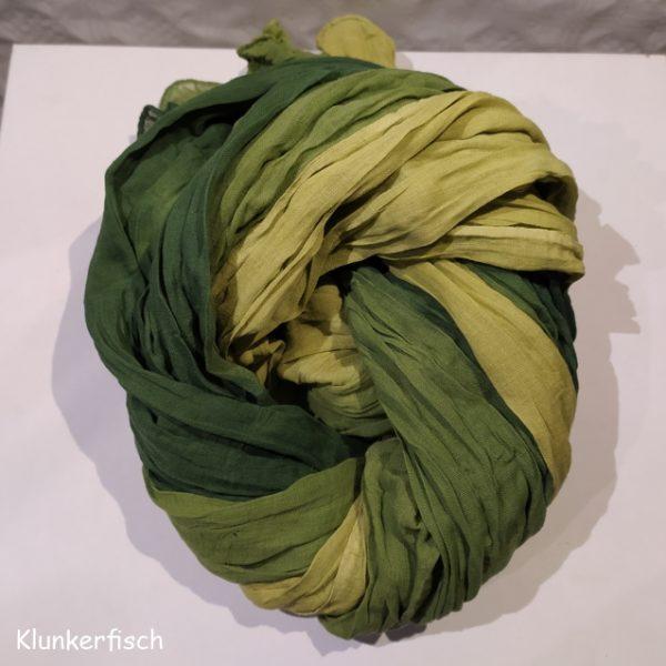 Batik-Tuch aus Baumwolle in Olivgrün