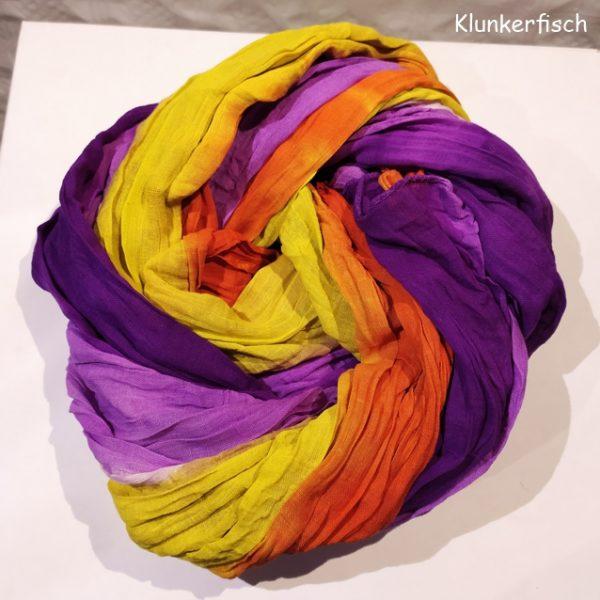 Batik-Tuch aus Baumwolle in Regenbogen-Farben