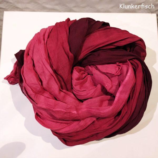 Batik-Tuch aus Baumwolle in Bordeaux-Rot