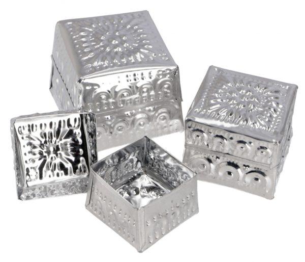 Blechdose *Würfel* in Silber