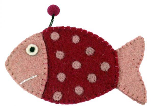 Filz-Täschchen *Fisch* in Pink