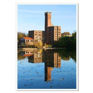 Böllberger Mühle: Spiegelung in der Saale